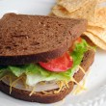 Turkey Sandwich Lunch — Stock Photo