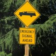 Emergency Signal Ahead - Stock Photo