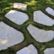 Garden Stone Masonry Flat Rock Path - Stock Photo