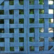 Woven Metal Mesh Grid Pattern - Stock Photo