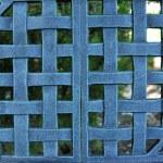 Woven Metal Mesh Grid Pattern — Stock Photo #4647294