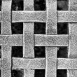 Woven Metal Mesh Grid Pattern — Stock Photo