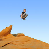 Le Parkour, Free Running, and Tricking — Stock Photo