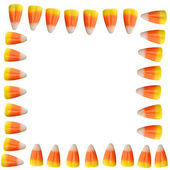 Halloween Candy Corn Border Background — Stock Photo