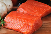 Fresh salmon — Stock Photo