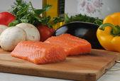Salmon & vegetables — Stock Photo