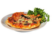 Pizza on a plate — Stock Photo
