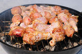 Chicken drumstick — Stock Photo