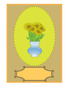 Sunflower. Vintage. Vector — Stock Vector
