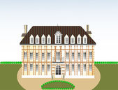 Castle, vector illustration — Vector de stock