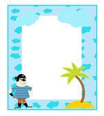 Children's photo framework vector — Stock Vector