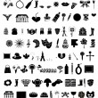 Collection of 100 elements vector — Stock Vector