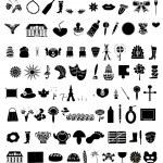 colección de vector de 100 elementos — Vector de stock