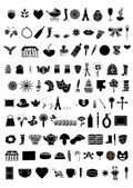 Collection of 100 elements vector — Stockvektor
