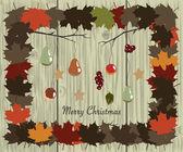 Christmas in Village — Stock Vector