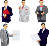 Businessman in splendid suit. — Stock Vector