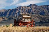 Kutsche in der Prärie, Wyoming - USA — Stock Photo