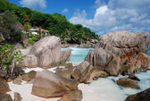 Anse Patates - La Digue, Seychellen — Stock Photo