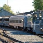 Zug in Old Sacramento - USA — Stock Photo