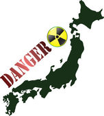 Japan Radioactivity Dangerous — Stock Vector