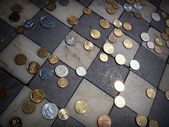 MoneyOn the floor — Stock Photo