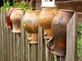 Old pitchers — Stock Photo