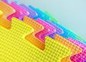 Colorful polystyrene foam texture — Stock Photo