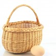 Basket and egg — Stock Photo