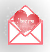 I love you in a heart — Stock Photo