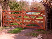 Wooden gate — Foto Stock