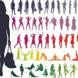 Vector Silhouettes Women — Stock Vector #4594640