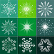 Stock Vector: Snowflakes vector set