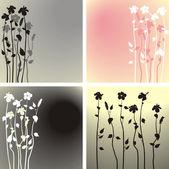 Fundo de flores de hibisco — Vetorial Stock