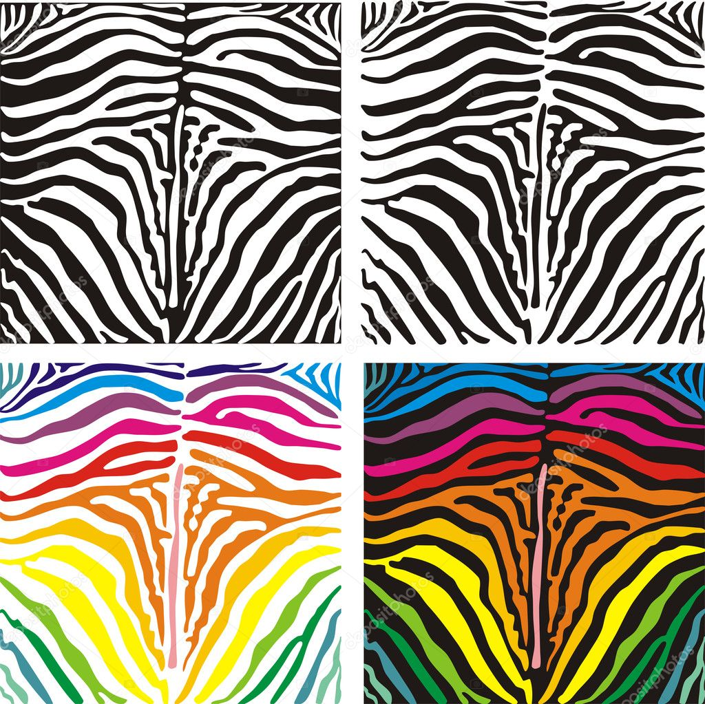 Colorful Zebra Stripes Background Vector background skin zebra Multi Colored Zebra Print Wallpapers