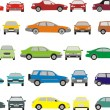 Stock Vector: Color cars