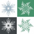 Green snowflake — Stock Vector