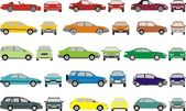 Color cars — Stock Vector