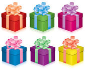 Colorful gift boxes — Stock Vector