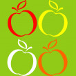 Set of colored apples — Stock Vector #4679411