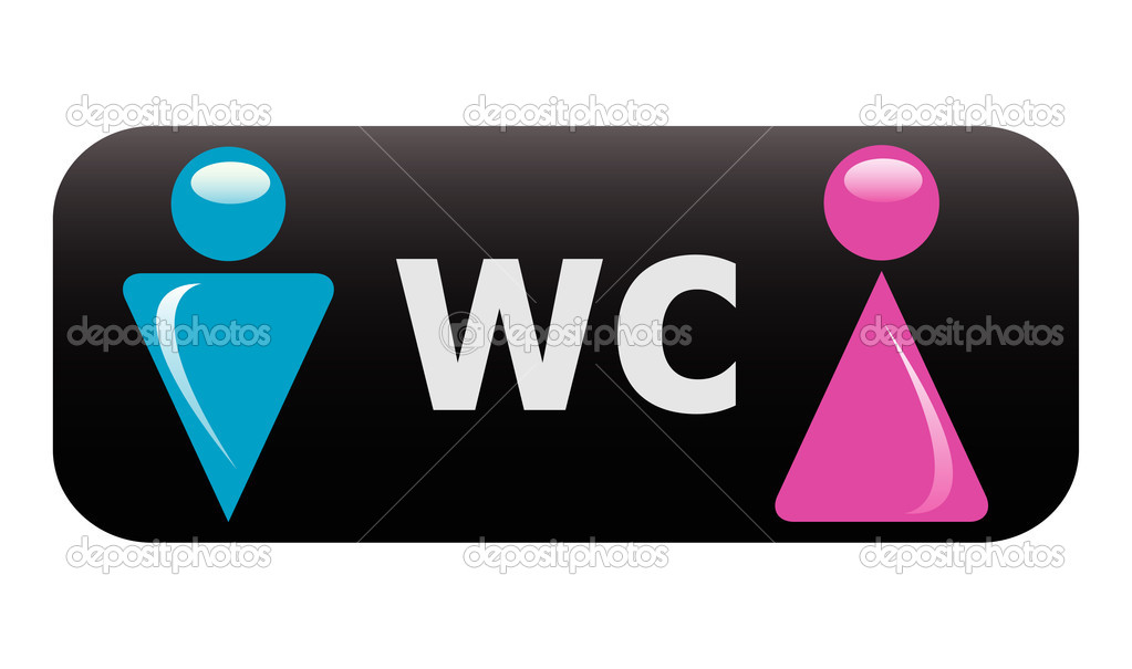 Vector WC sign — Stock Vector #4679395