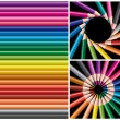 Colored pencils, collage — Stock Vector