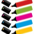 Royalty-Free Stock Vektorov obrzek: Colorful highlighters with caps