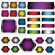 Colorful metal buttons — Stock Vector #4899755