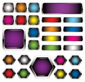 Colorful metal buttons — Stock Vector