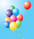 Colorful balloons — Stockvektor