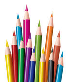 Bunch of colored pencils — Stock Vector