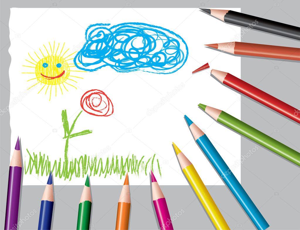 Картинка рисующего карандаша 180