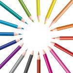 ensemble de crayons de couleur — Vecteur