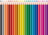 Vector set of colored pencils — Stock Vector