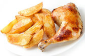 Chicken with potatoes — Stock Photo